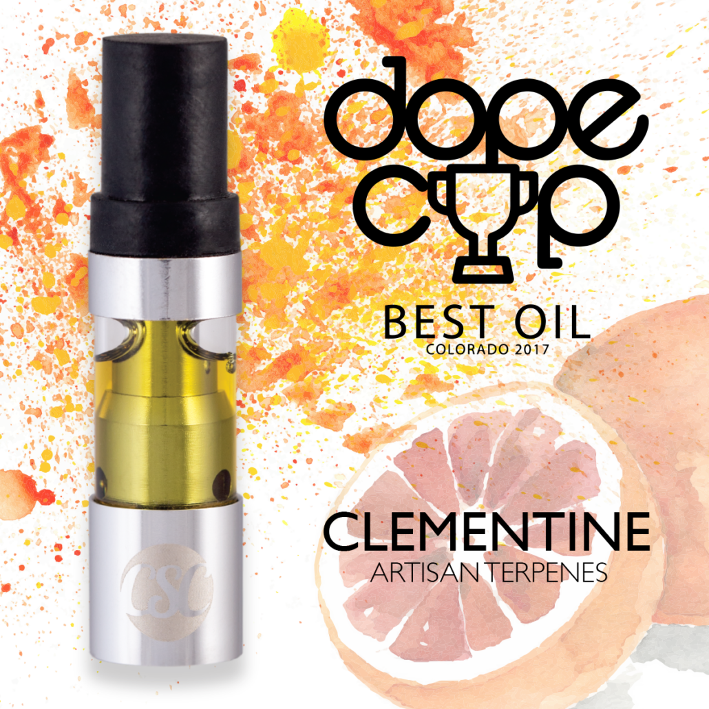 Dope Cup 2017 – Best Oil Winner – Clementine Vape Cartridge
